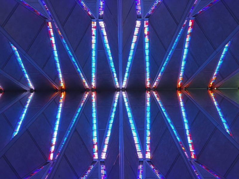Ceiling of the Air Force Academy Chapel, Colorado Springs, 2016
