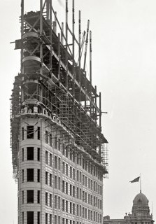The Flatiron Building rises in Manhattan in 1902